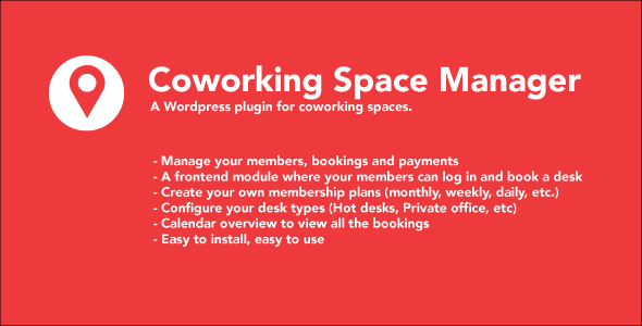 banner Coworking Space Manager (WordPress)