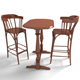 Furniture - Bar Table Set - 3DOcean Item for Sale