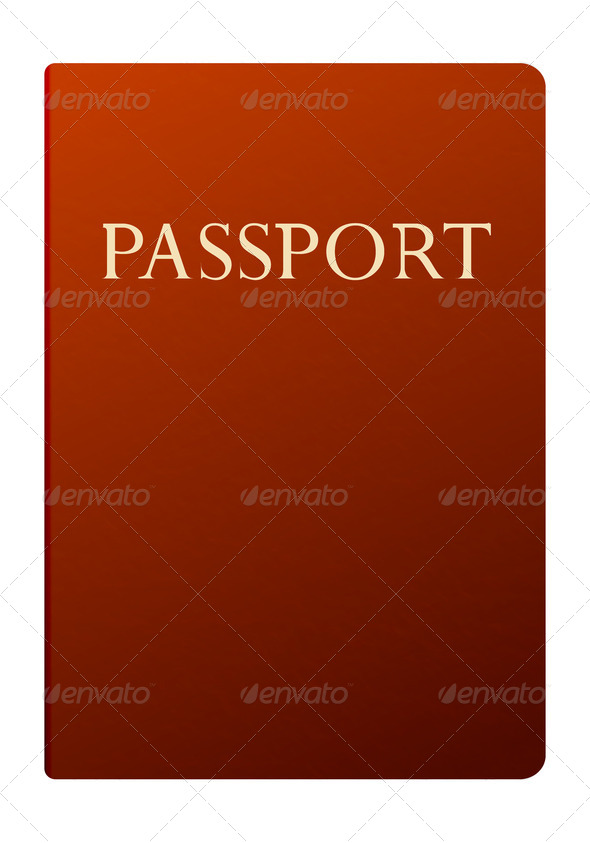 passport isolated on white - Stock Photo - Images