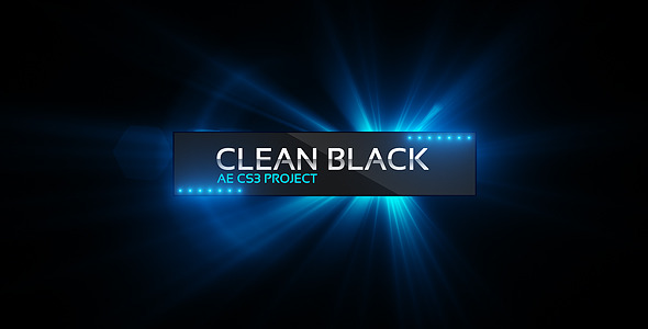 After Effects Project - VideoHive Clean Black Presentation 1952267