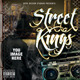 Street Kings Mixtape CD or Flyer Template - GraphicRiver Item for Sale