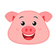 Pig Emoticon Vector Pack