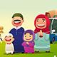 Muslim Family Going Home to Celebrate Eid Al Fitri