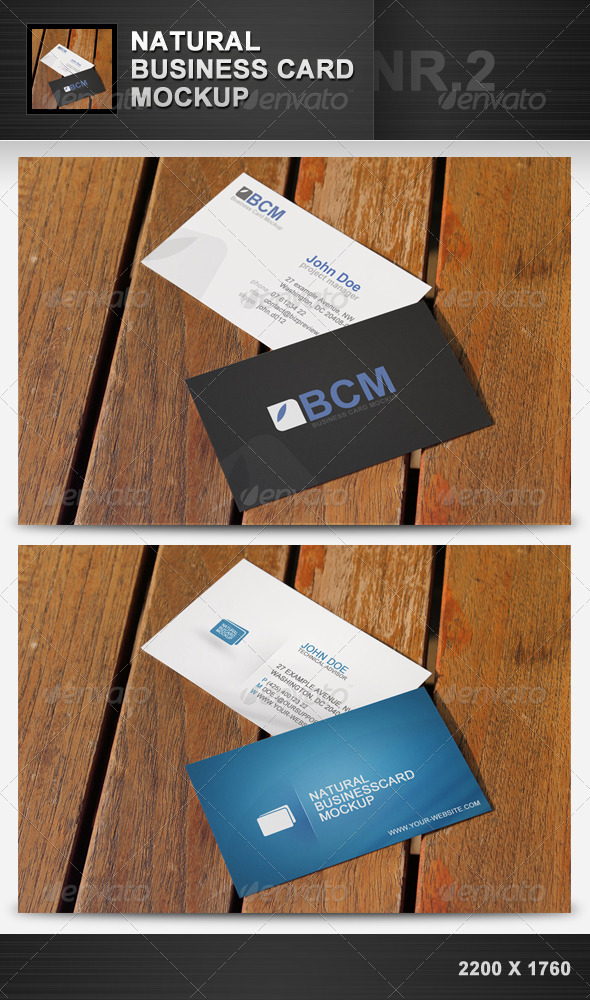 Natural Business Card Mockup 2