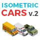 Vector Cars Set Isometric Flat Style v.2