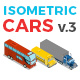 Vector Cars Set Isometric Flat Style v.3