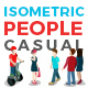 Vector Casual People Set Isometric Flat Style