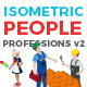 Vector Professions People Set Isometric Flat Style v.2