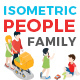 Vector Family People Set Isometric Flat Style