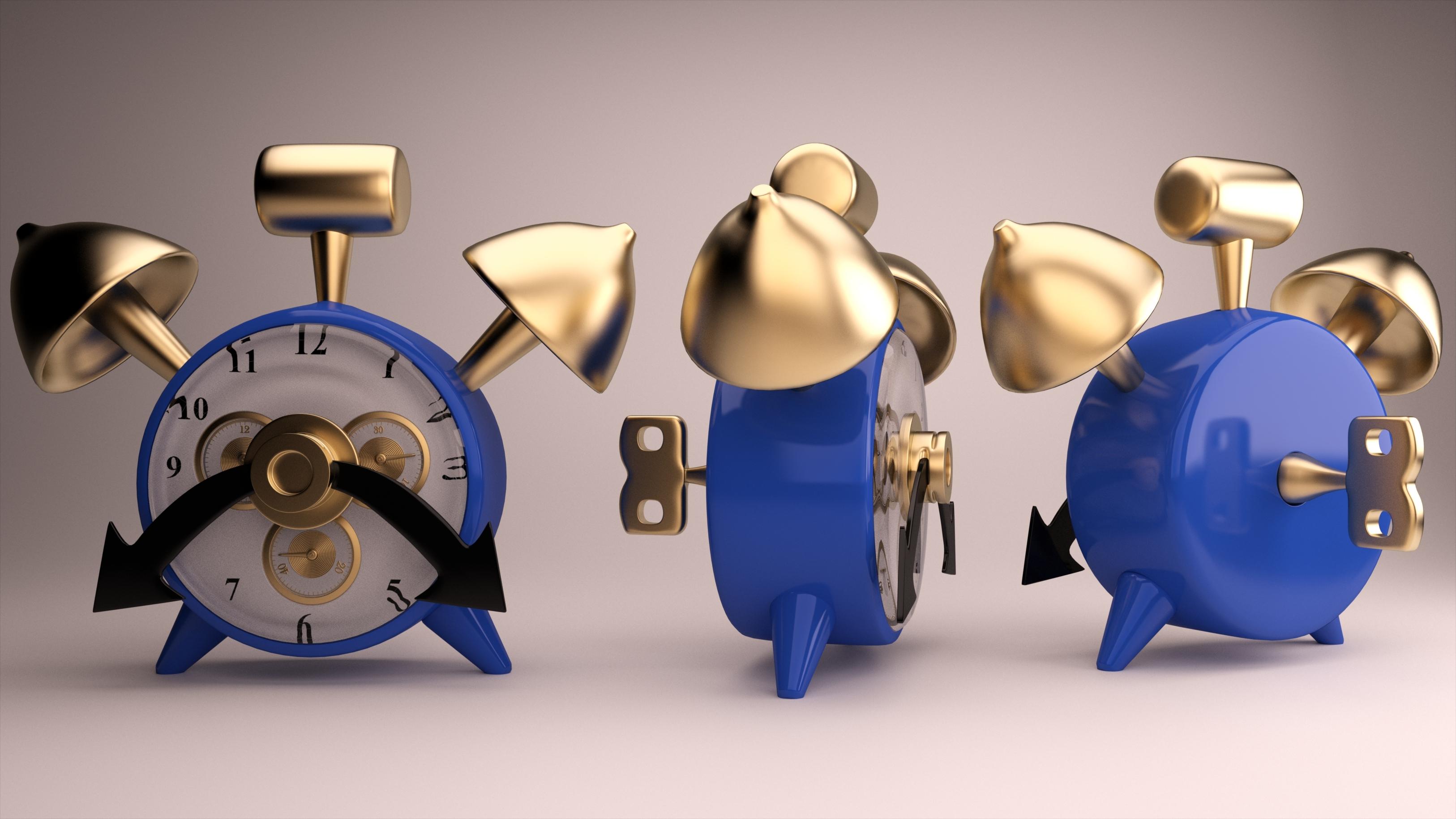3DOcean Toonish Alarm Clock 3D Models -  Deco Objects 1952587