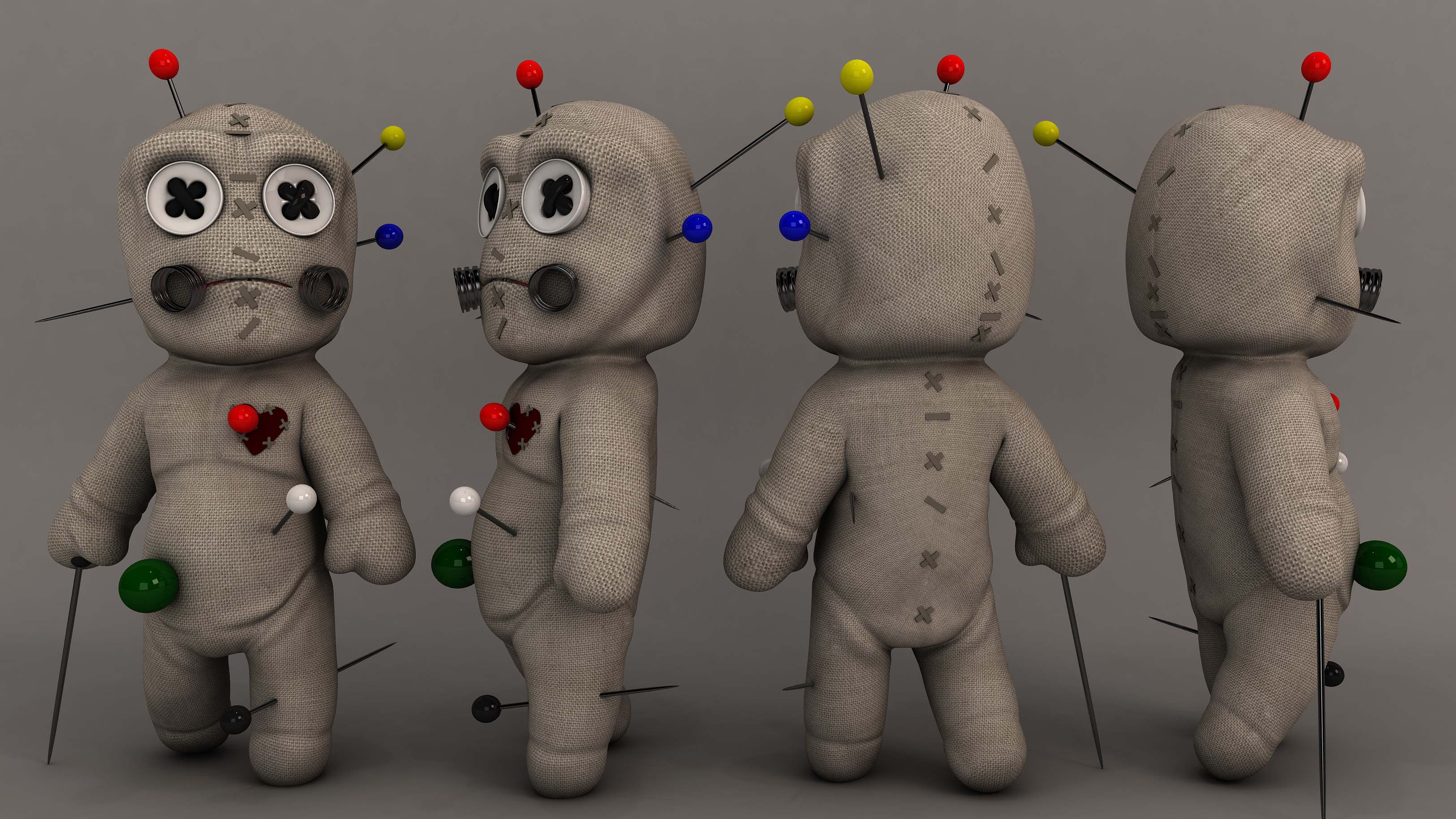 3DOcean VoodooDoll 3D Models -  Fantasy and Fiction  Characters 1952721