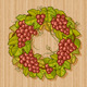 Retro Grapes Wreath - GraphicRiver Item for Sale