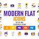 Big Collection of Flat Modern Color Design Icons
