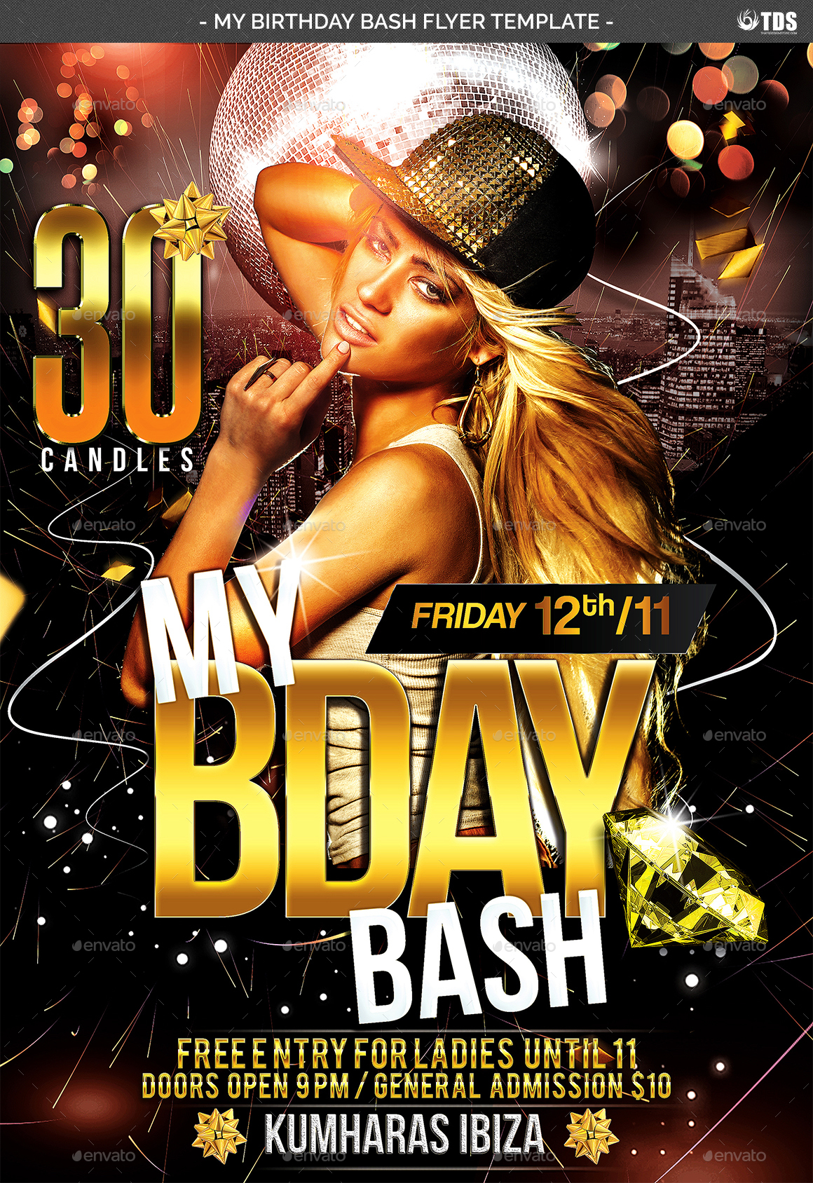 My Birthday Bash Flyer Template by NoryAch – Birthday Flyers Template