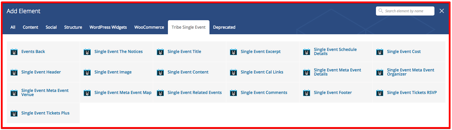 The Events Calendar Single Event Page Builder 1