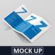 DL Z-Fold Brochure Mockup - 99x210mm