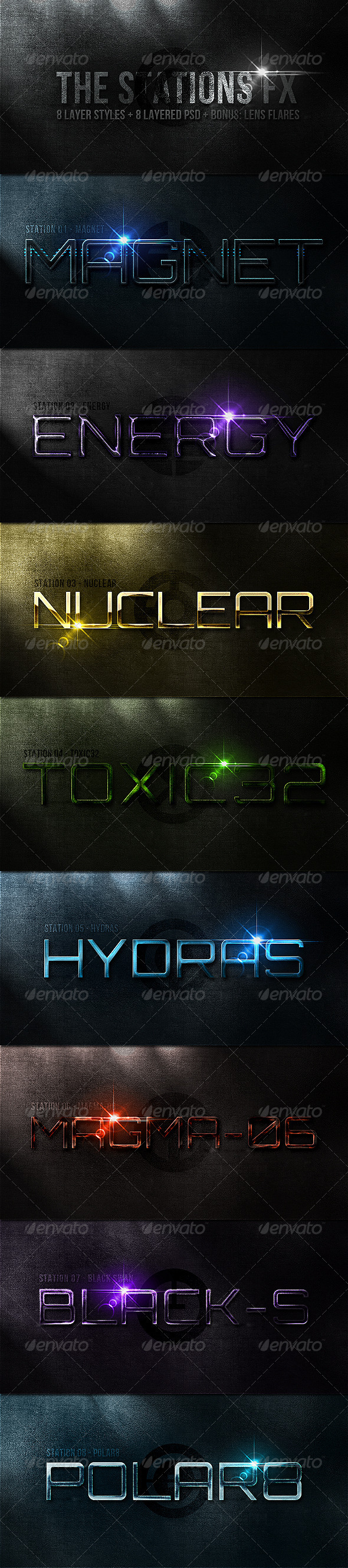 The Stations - Text Effects Styles