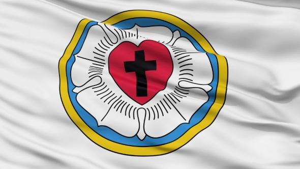 Lutheran Religious  Waving Flag