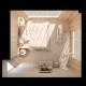 3d Render of Bedroom Interior Design in Top View