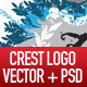 Rockcrest. A vector + psd crest logo and elements - GraphicRiver Item for Sale