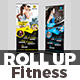 Fitness - Gym Roll-Up Banner