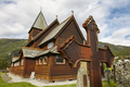 Norwegian stave church. Roldal. Historic building. Norway tourism highlight. Horizontal