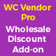 Wholesale price discount plugin addon for wc vendor pro