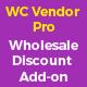 Wholesale price discount plugin addon for wc vendor pro