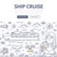 Ship Cruise Doodle Concept