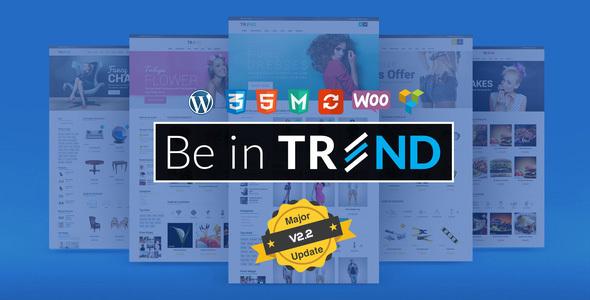 Фото Шаблон Wordpress платный  Trend - Multipurpose / Fashion / Restaurant / Construction / Modern Shop WooCommerce WordPress Theme — 01 main banner.  large preview