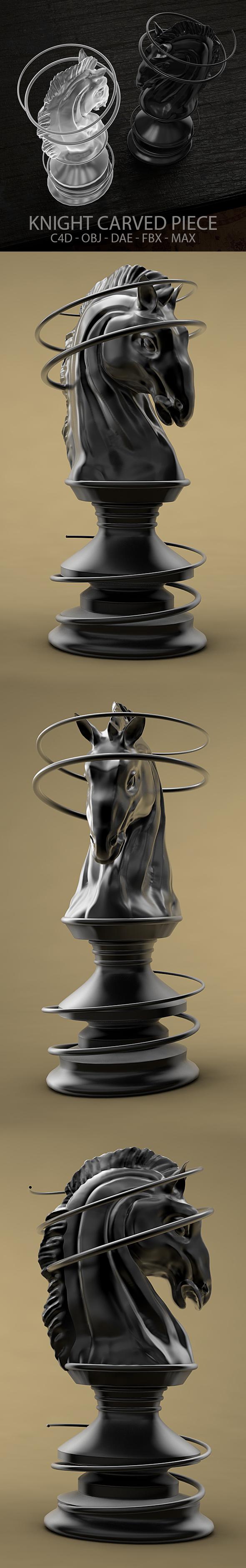3DOcean Sculpted Knight Chess Piece 19972935