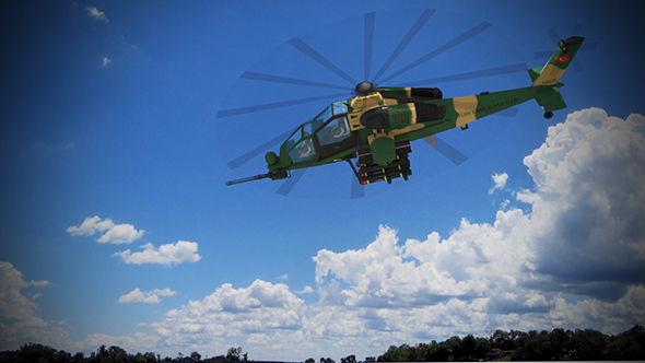 ATAK HELİCOPTER TURKISH ARMY - 3DOcean Item for Sale