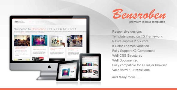 Bensroben - Stylish Responsive Joomla Template