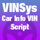 VINSys - Bootstrap Car Info VIN Script