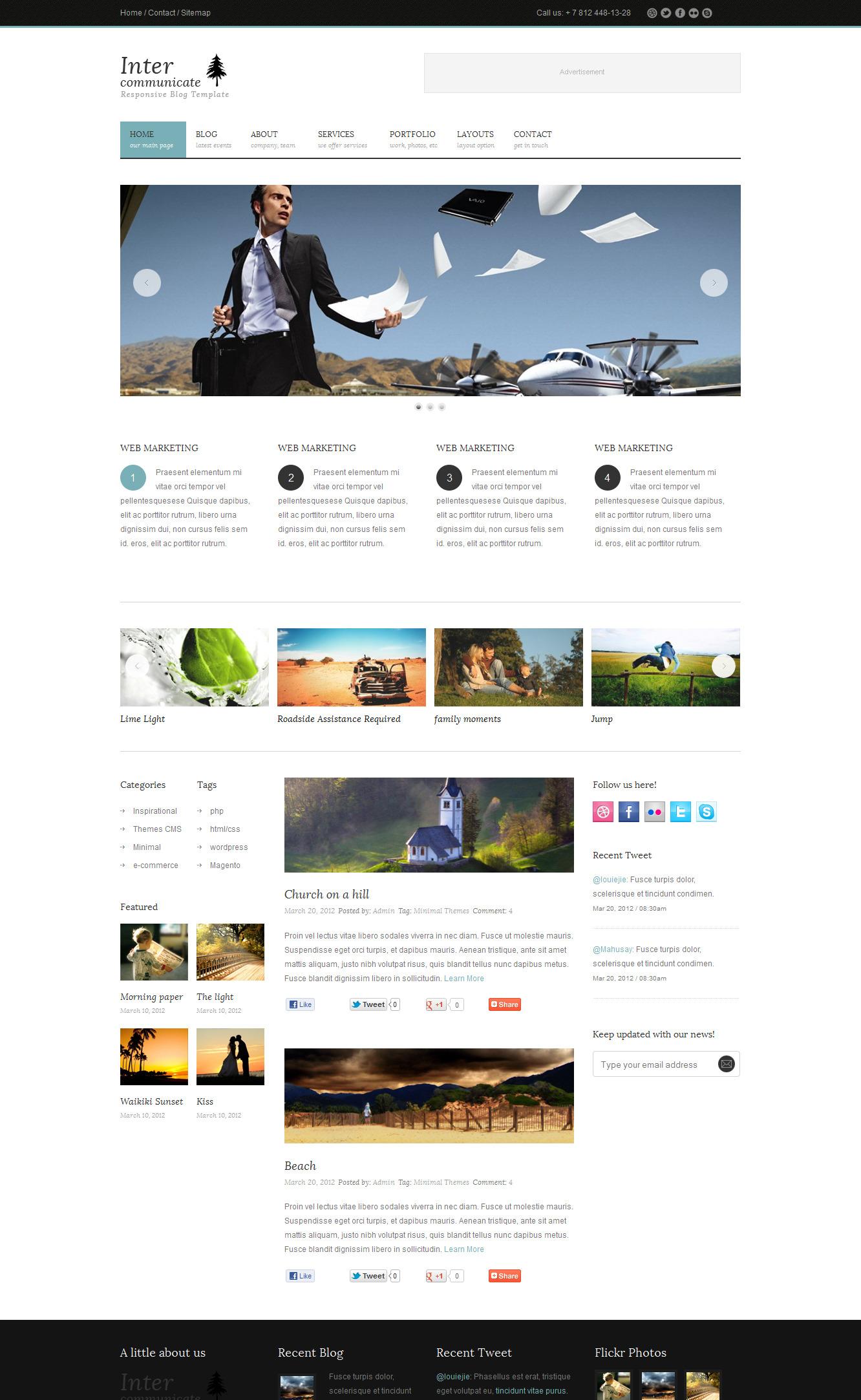 Inter-Communicate - Responsive HTML5 Blog Template -