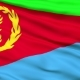 Waving National Flag of Eritrea