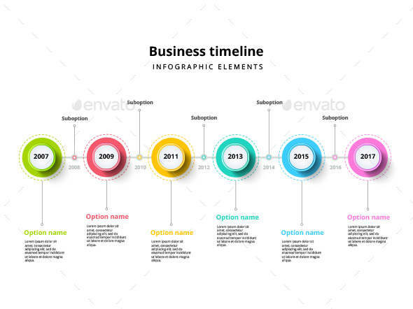 Timeline infographic elements template