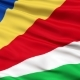 Waving National Flag of Seychelles