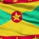Waving National Flag of Grenada