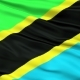 Waving National Flag of Tanzania