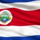 Waving National Flag of Costa Rica