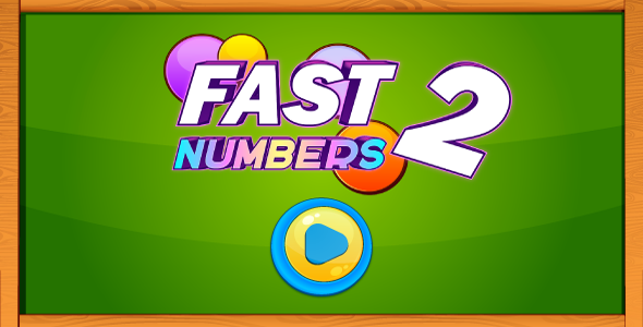 Download Fast numbers 2 - HTML5 game. Construct 2 (.capx) + mobile control