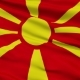 Waving National Flag of Republic of Macedonia