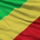 Waving National Flag of Republic of the Congo