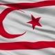Waving National Flag of Northern Cyprus