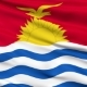 Waving National Flag of Kiribati