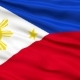 Waving National Flag of Philippines