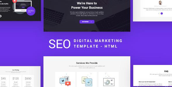 SEO - SEO & Digital Marketing Agency Template