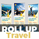 Holiday Tour & Travel Roll-Up Banner Template