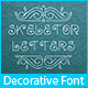 Skeleton Letters Typeface
